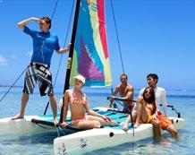 Красивый пляж и бассейны в Pacific Islands Club на Сайпане